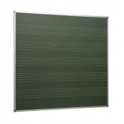 Pizarra verde acero vitrificado con 5 pentagramas y marco de aluminio