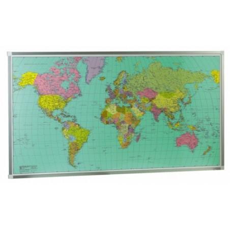 Mapa Mundi base metálica