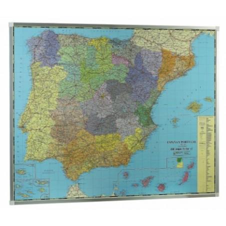 Mapa España base metálica