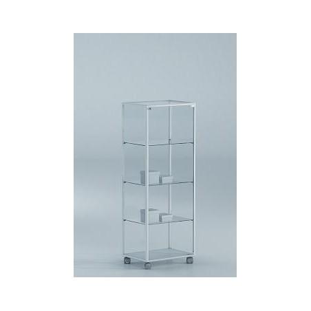 Vitrina 138x51x37 cm aluminio blanco y vidrio Ref. E4-V115