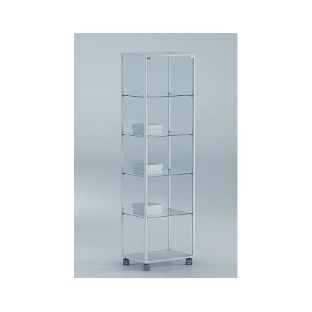 Vitrina 180x51x37 cm aluminio blanco y vidrio Ref. E4-V120