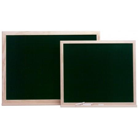 Pizarra verde con marco y repisa de madera (serie Basic Board Infantil)