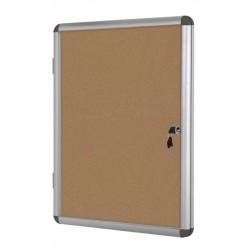 Vitrina convencional aluminio puerta batiente (fondo de corcho)