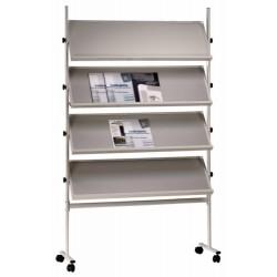 Expositor móvil 4 estantes (color gris)
