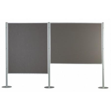 Paneles modulares de exposición (ejemplo composición 2 paneles y 3 columnas)