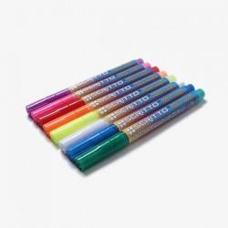Rotuladores de tiza líquida punta redonda 3 mm
