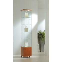Vitrinas altura 220 cm vidrio, buck e iluminación
