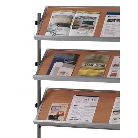 Expositor móvil 4 estantes (color haya)