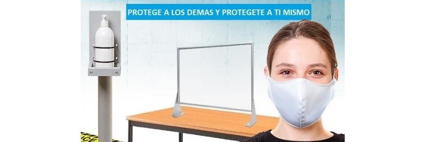 Productos de protección y prevención, soluciones anticontagio